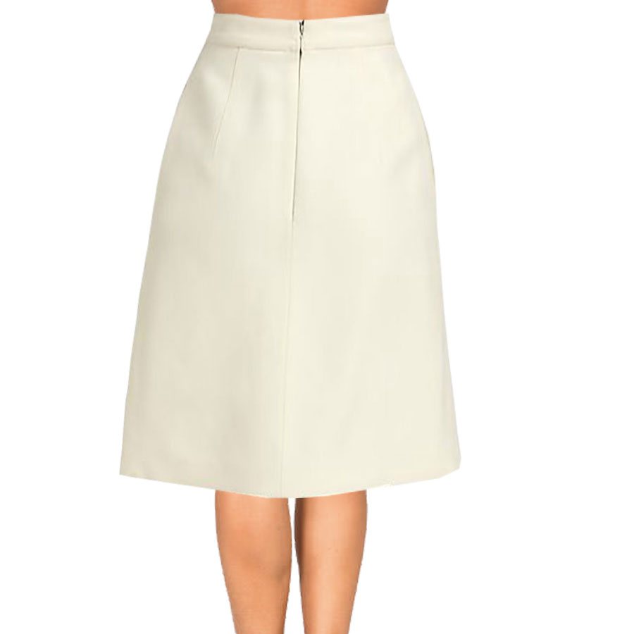 A-Line Skirts cream inverted pleat a-line skirt DWDFCRU
