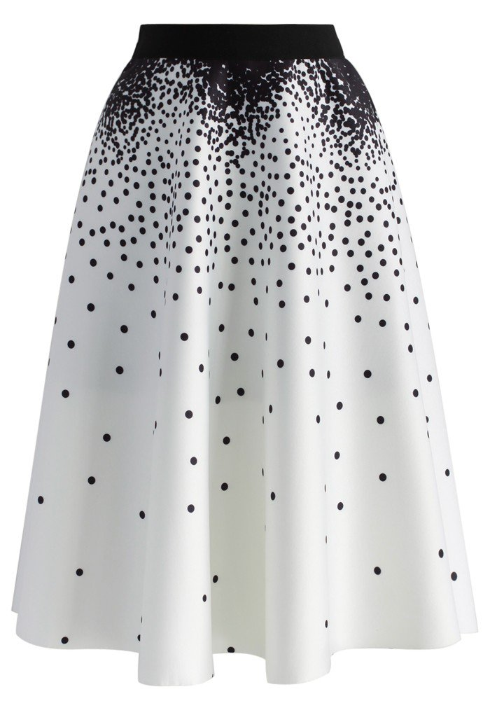 A-Line Skirts more views. falling dots airy a-line skirt ... LWRSSJH
