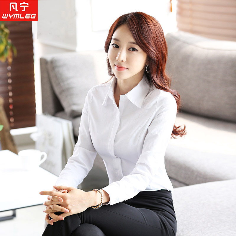 autumn clothes for work buy autumn ol ladies wear skirt suits ladies dress shirt work clothes long  sleeve white GSJATLC