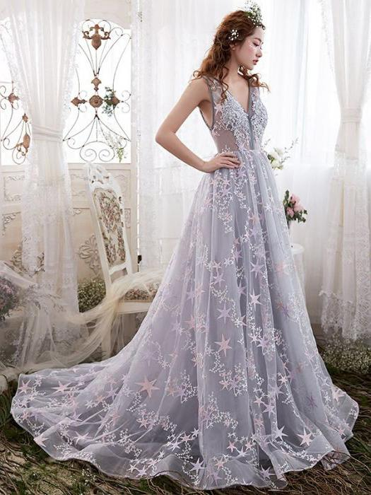 Beautiful prom dresses chic beautiful prom dresses a line sweep/brush train modest cheap long prom  dress DHIKCPG