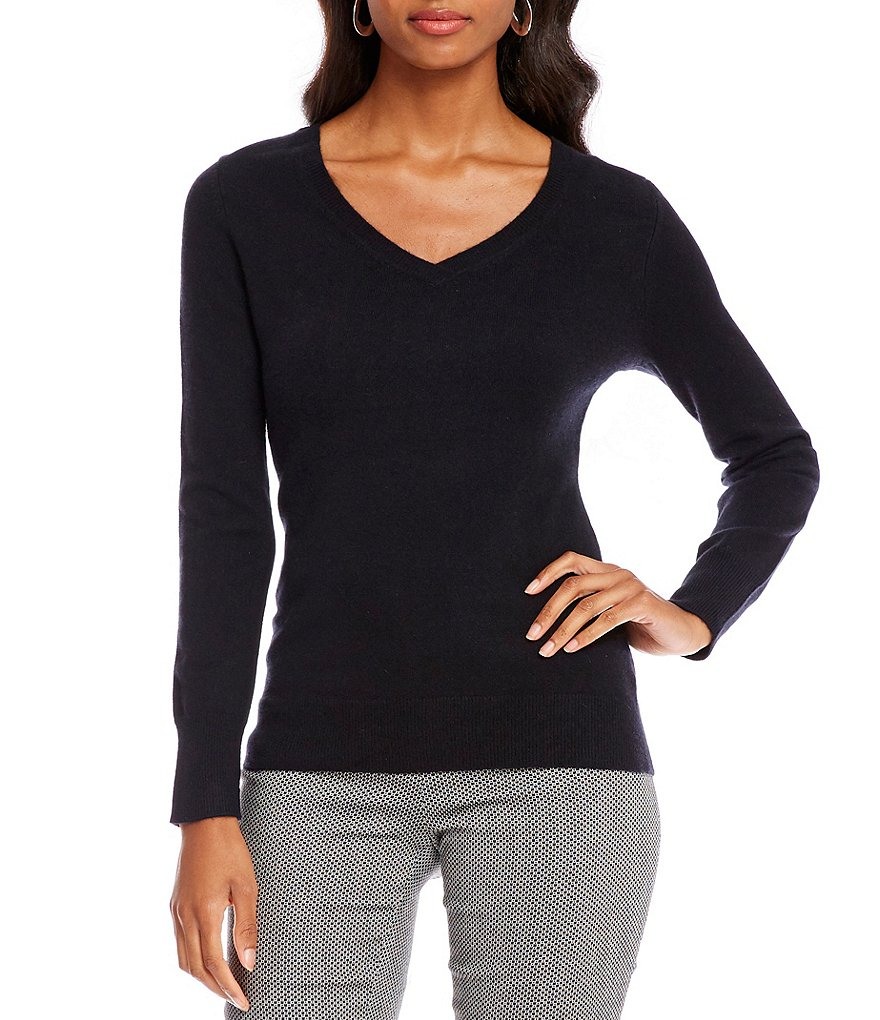 Black cashmere sweater cashmere - womens alex marie jojo v-neck cashmere sweater black | gift to IKJLNGQ
