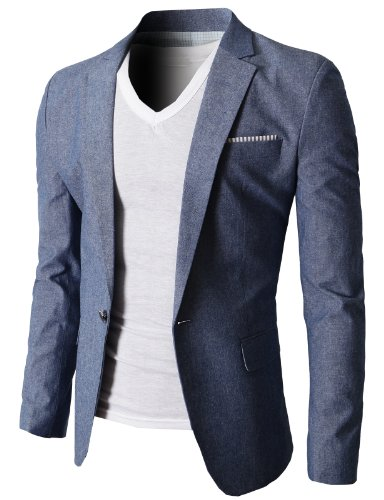 blazer for men h2h mens slim fit suits casual solid lightweight blazer jackets one button  flap pockets at YVKFTUR