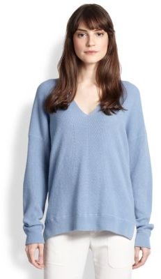 Blue cashmere sweater ... blue knit oversized sweaters vince oversized ribbed cashmere sweater ... ABUJNTK