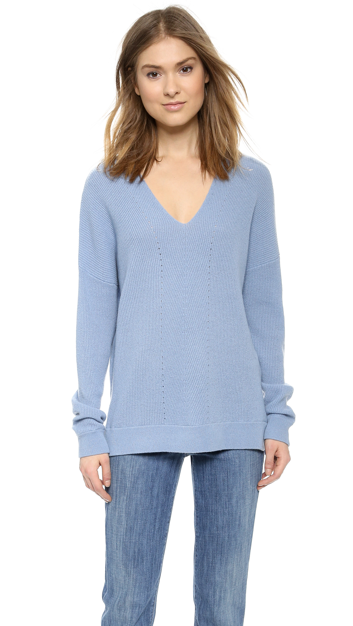 Blue cashmere sweater gallery MHRUXDJ