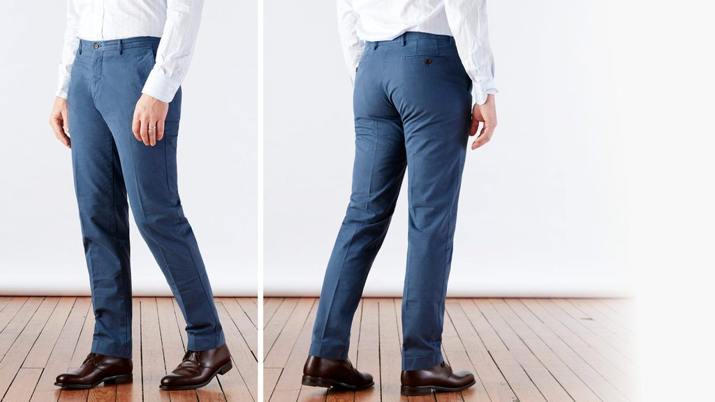 BLUE CHINOS the airforce blue richmond chino pant | ledbury AJGHMJY