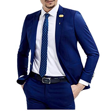 Blue men's suits botong slim fit royal blue wedding suits 2 pieces men suits groom tuxedos  royal blue ZLYLMRP