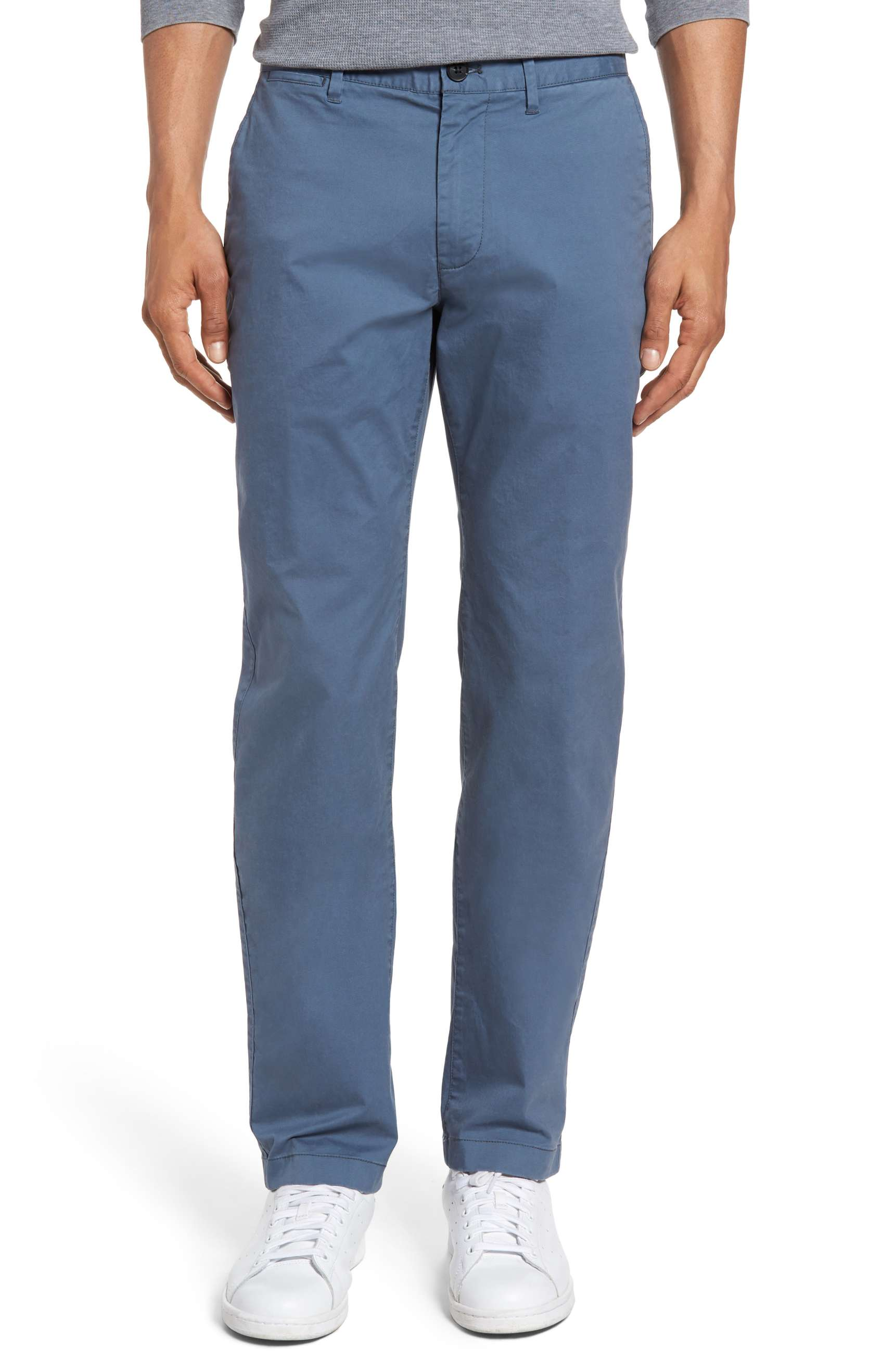 Blue Mens Trousers light-weight slim fit chino pants for men in grey-blue - buy it here for $98 ADVNVIX