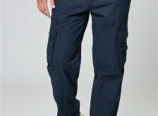Blue Mens Trousers tech cargos KPDFSFV