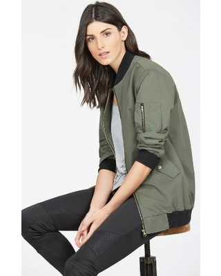 Bomber Jackets for Women justfab jackets and coats oversized bomber jacket womens green size l NFAJGPB