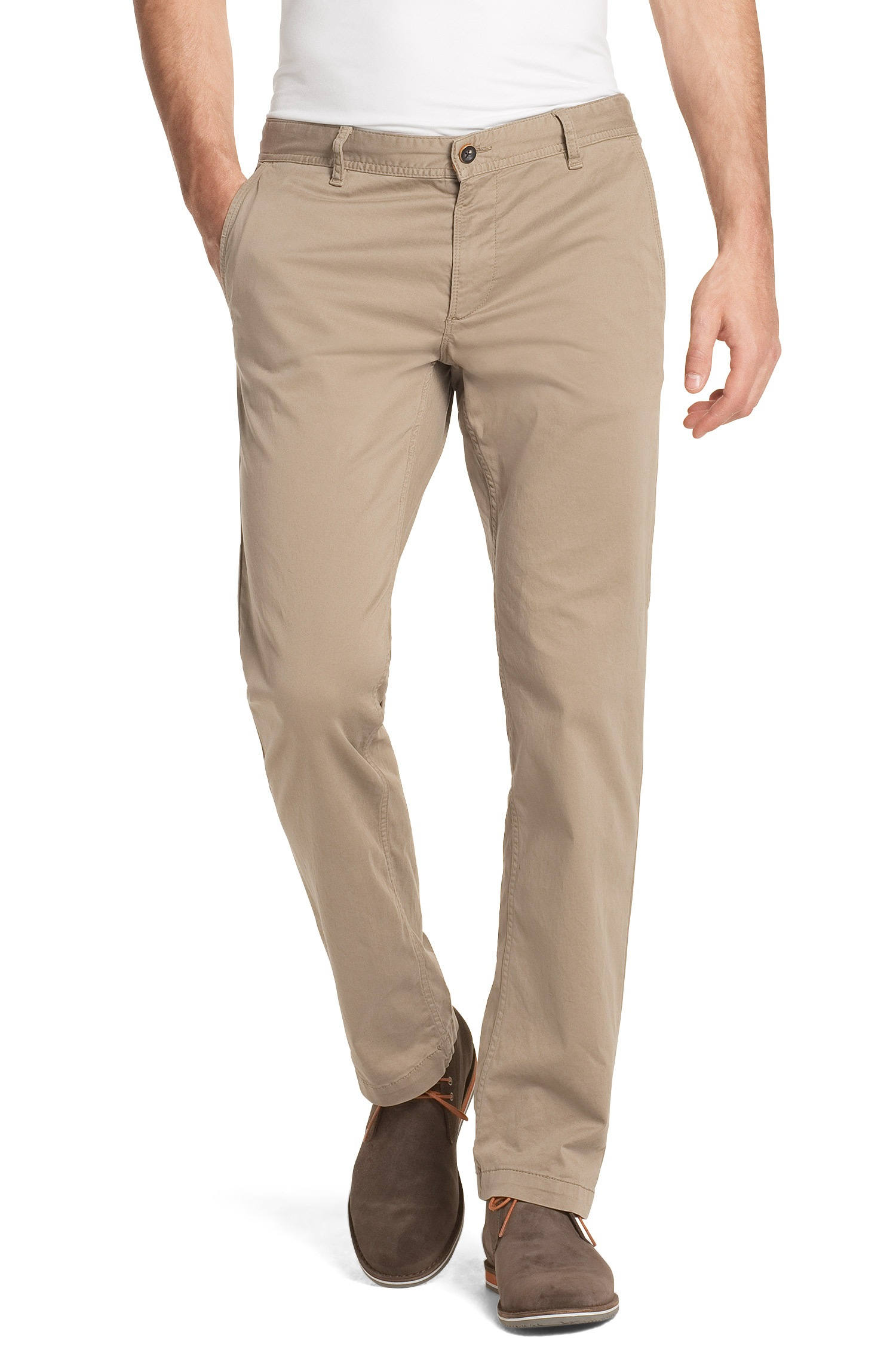 Fresh spring colors for the men's wardrobe: Boss Casual Chinos