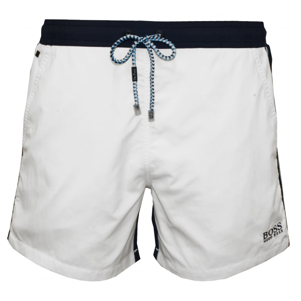 BOSS swimming shorts snapper swim shorts, white/navy TMWQTAL