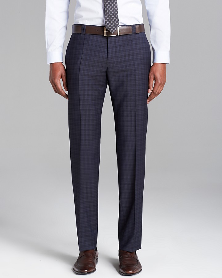 BOSS trousers ... hugo boss hugo himmer check suit trousers regular fit ... LNIFZOZ