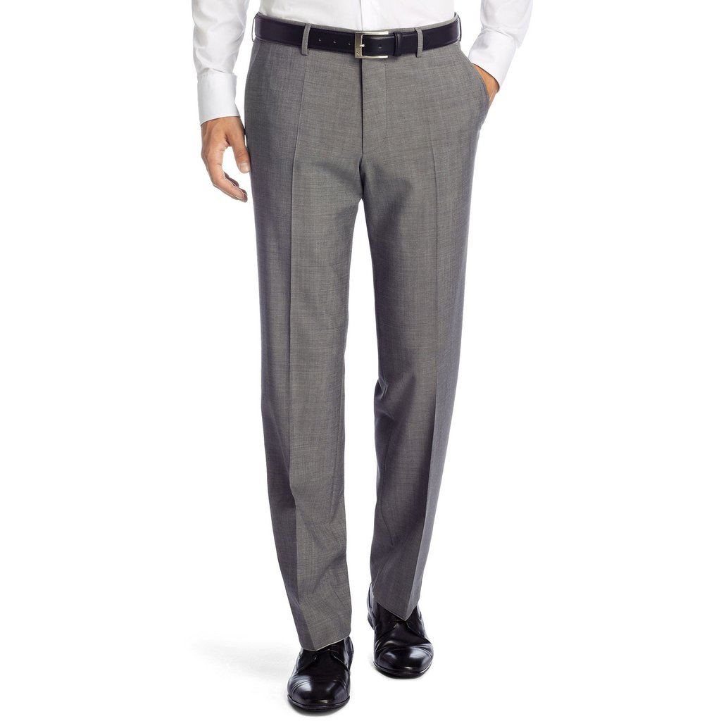 BOSS trousers hugo boss parkway comfort fit business trousers - dark grey CDHSYYZ