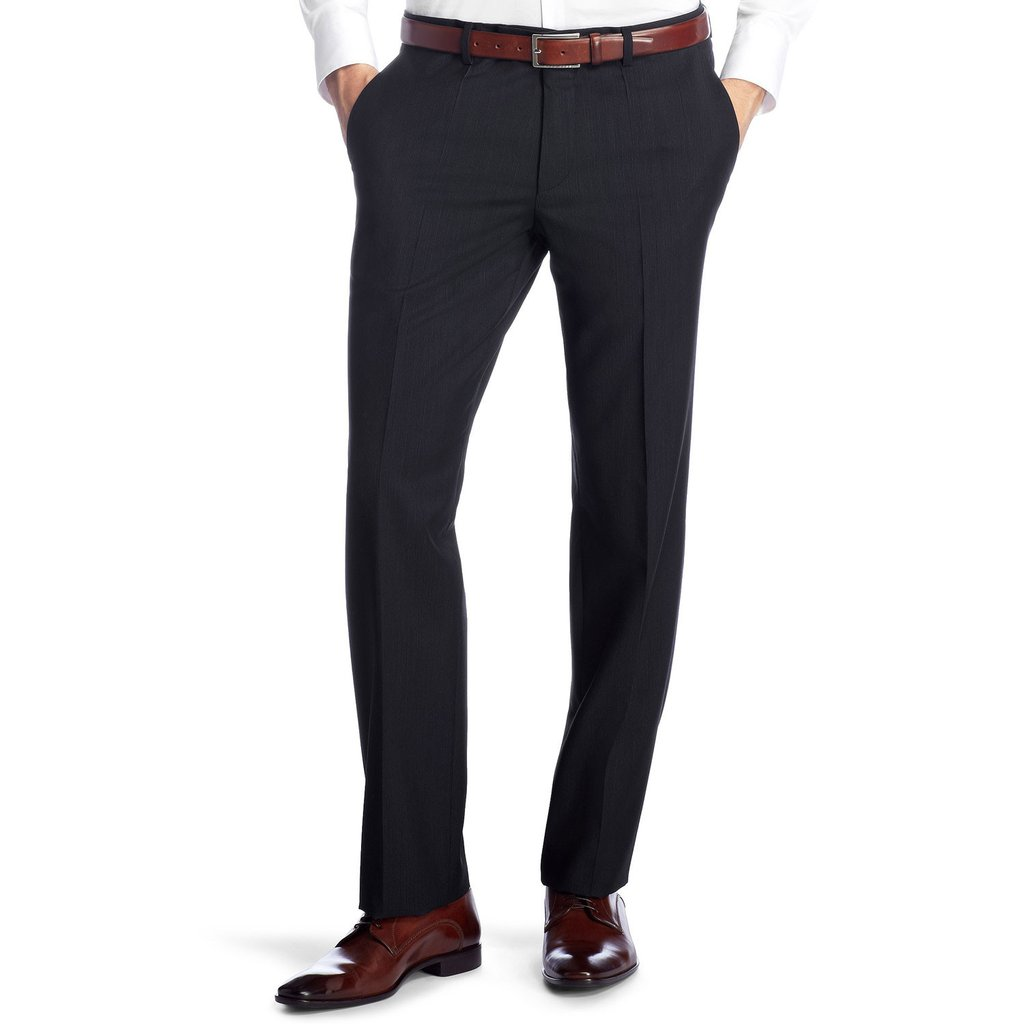 BOSS trousers hugo boss shout regular fit business trousers - dark blue VLVNVSR