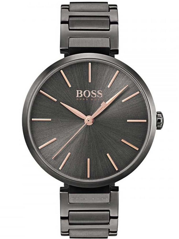 BOSS watches for women womenu0027s hugo boss allusion black steel link watch 1502416 AXMMIDO