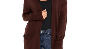 BROWN CARDIGANS us$ 11.39-brown knit long sleeve open front cardigan dropshipping VPEORHC
