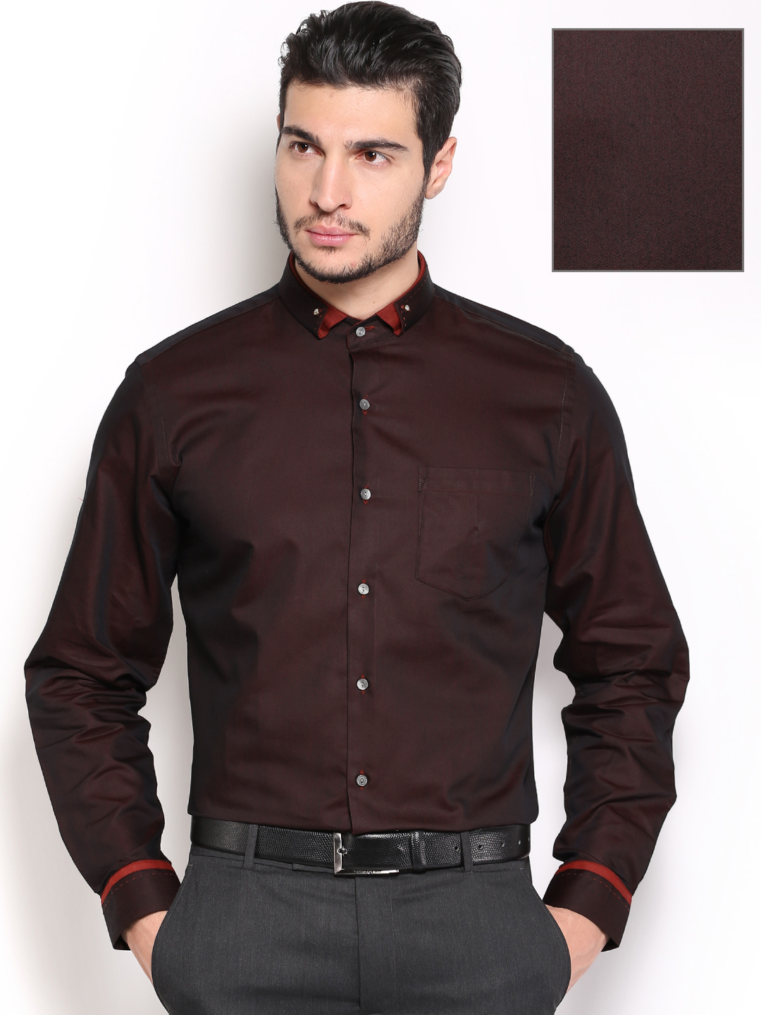 Brown shirts for men buy black coffee men coffee brown slim fit formal shirt - shirts for men  627033 DGGHMPC