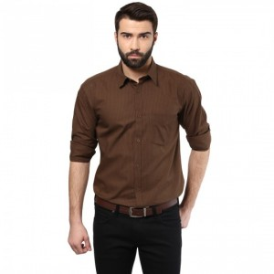 Brown shirts for men cotton shirt chocolate brown color /srm820032 OEJMOZK