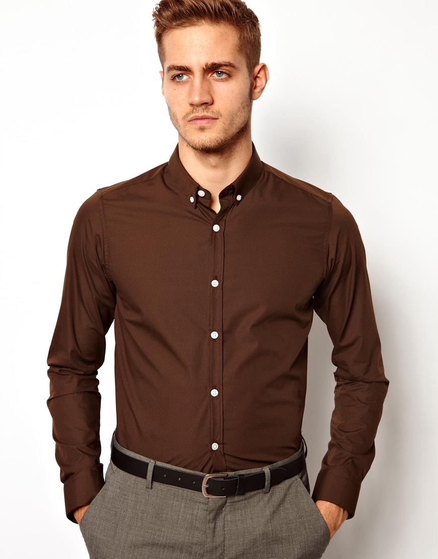 Brown shirts for men gallery BJIIEQL
