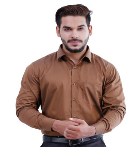 Brown shirts for men lamode plane brown shirt EXEFDQT