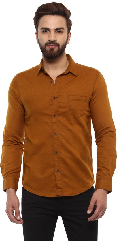 Brown shirts for men mufti men solid casual brown shirt HMSVSDV