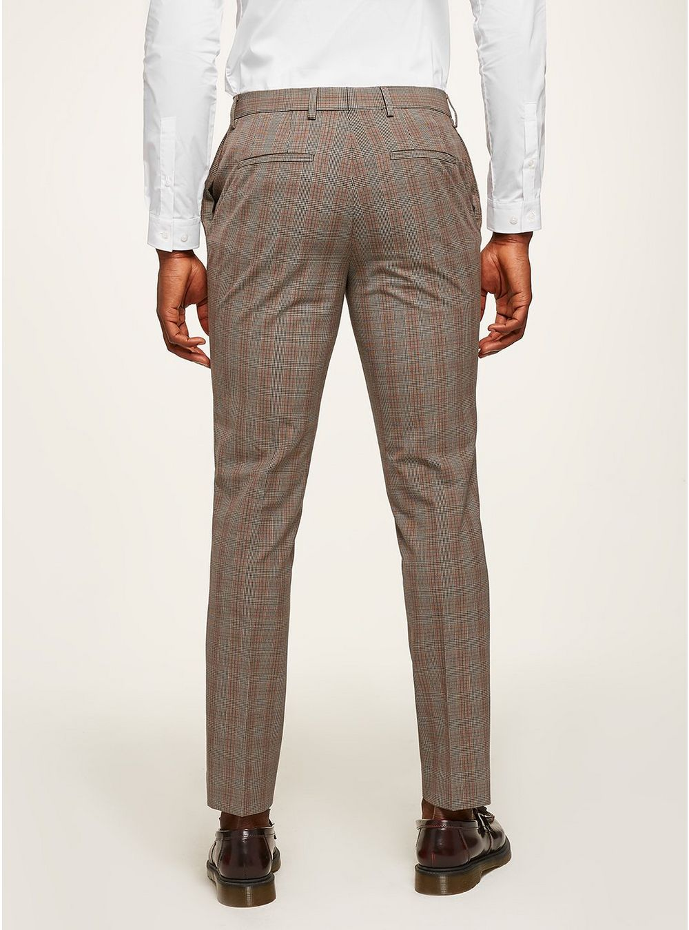 Brown suit trousers brown check muscle suit trousers - shop all sale - sale - topman ZIPLIWR