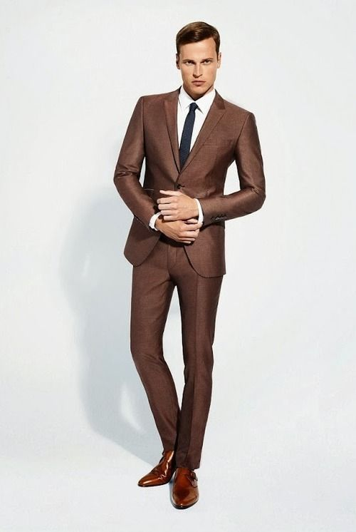 BROWN SUITS for men the tie guy fashion dresses, fashion suits, menu0027s fashion, fashion moda,  fashion XNNIAOK