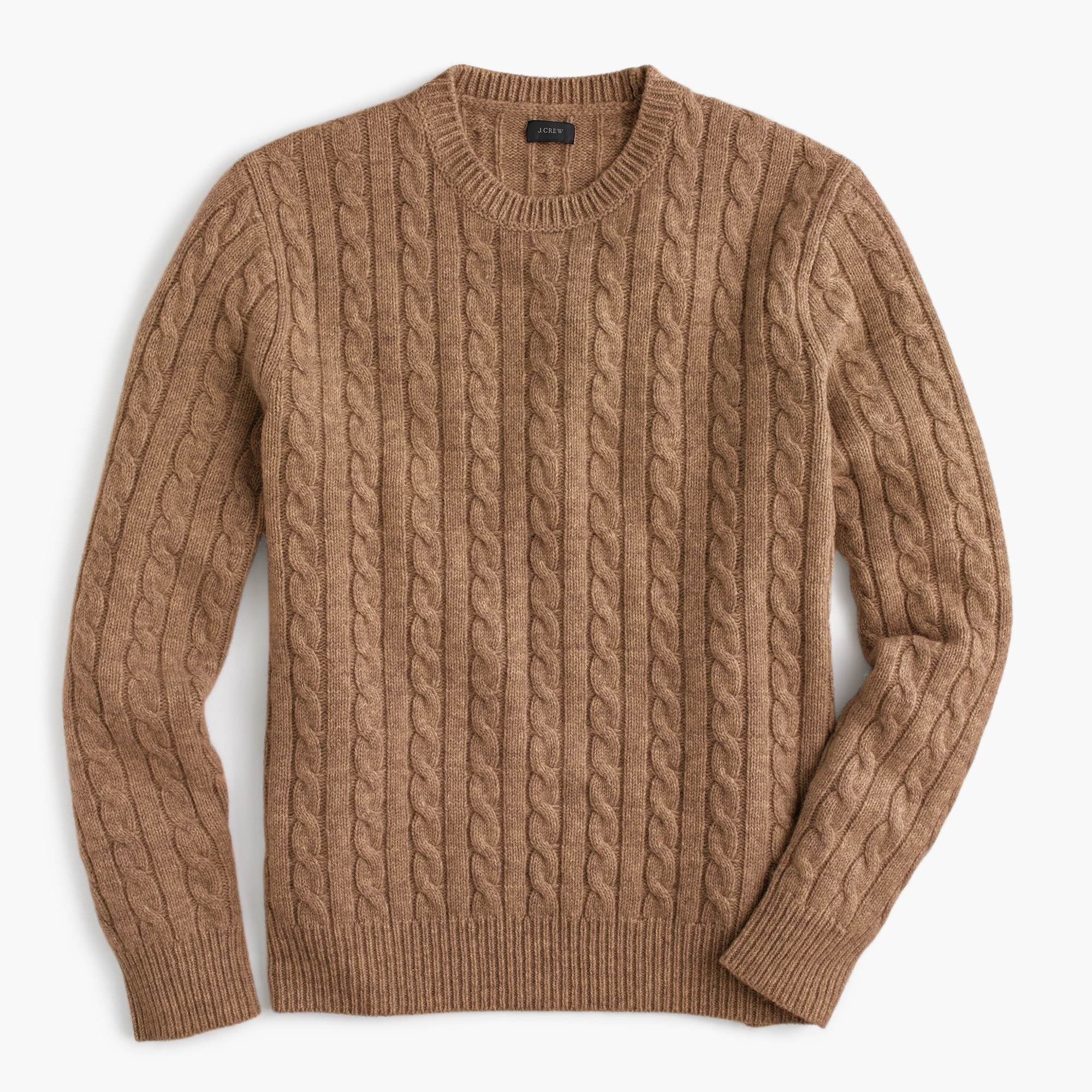 Cable Knit Sweater lambswool crewneck sweater in cable-knit : QOJEIZS