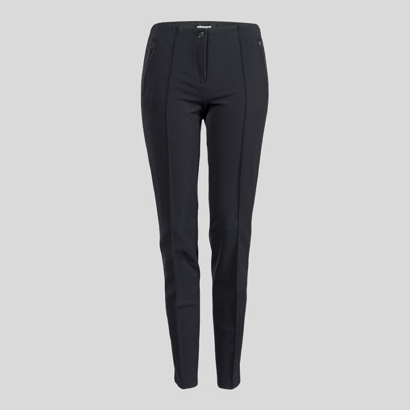 Cambio Ros Pants cambio pant ros in dark grey with zip VVEFZEA