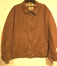 CAMEL ACTIVE Jackets wind trail mens brown jacket zip front 100% cotton sz xl BUVZDYF