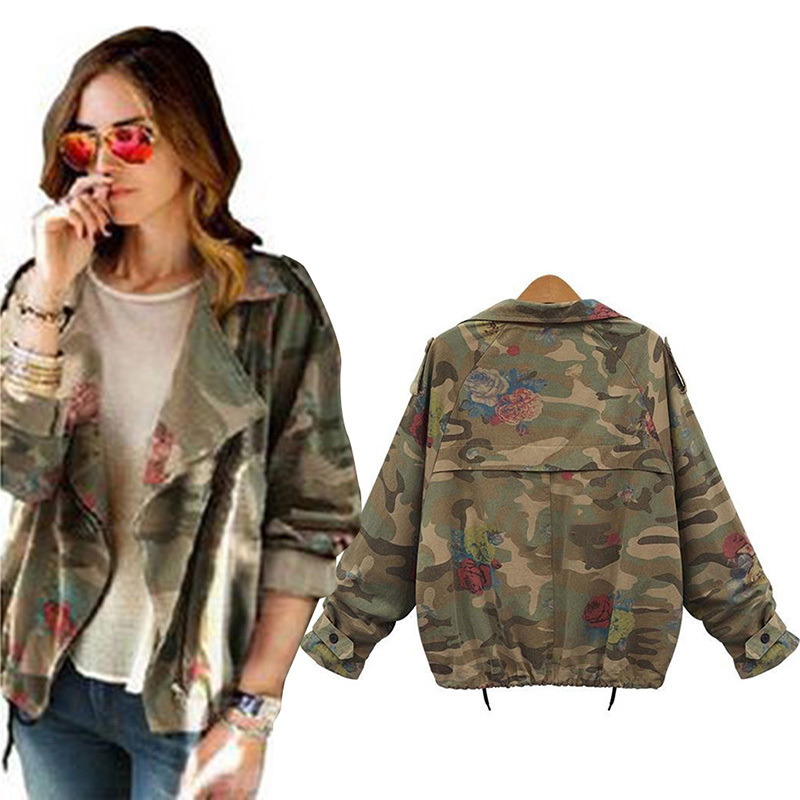 Camouflage Jacket Women cheap jacket navy, buy quality coat crochet directly from china jacket coat  for TQDDRTK