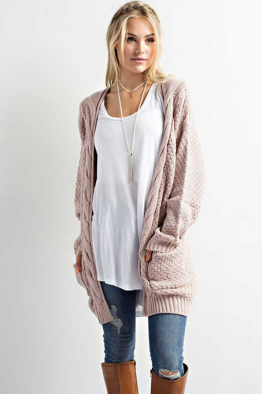 cardigans for women wishlist cable knit cardigan sweater for women in twig tk5934lj WWYWPUF