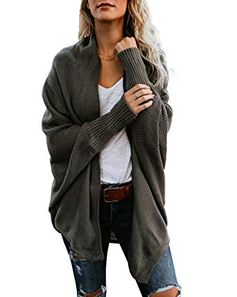 cardigans for women womens oversized cardigan dolman long sleeve draped cardigan sweater with  honeycomb weave knit OCSYUUO