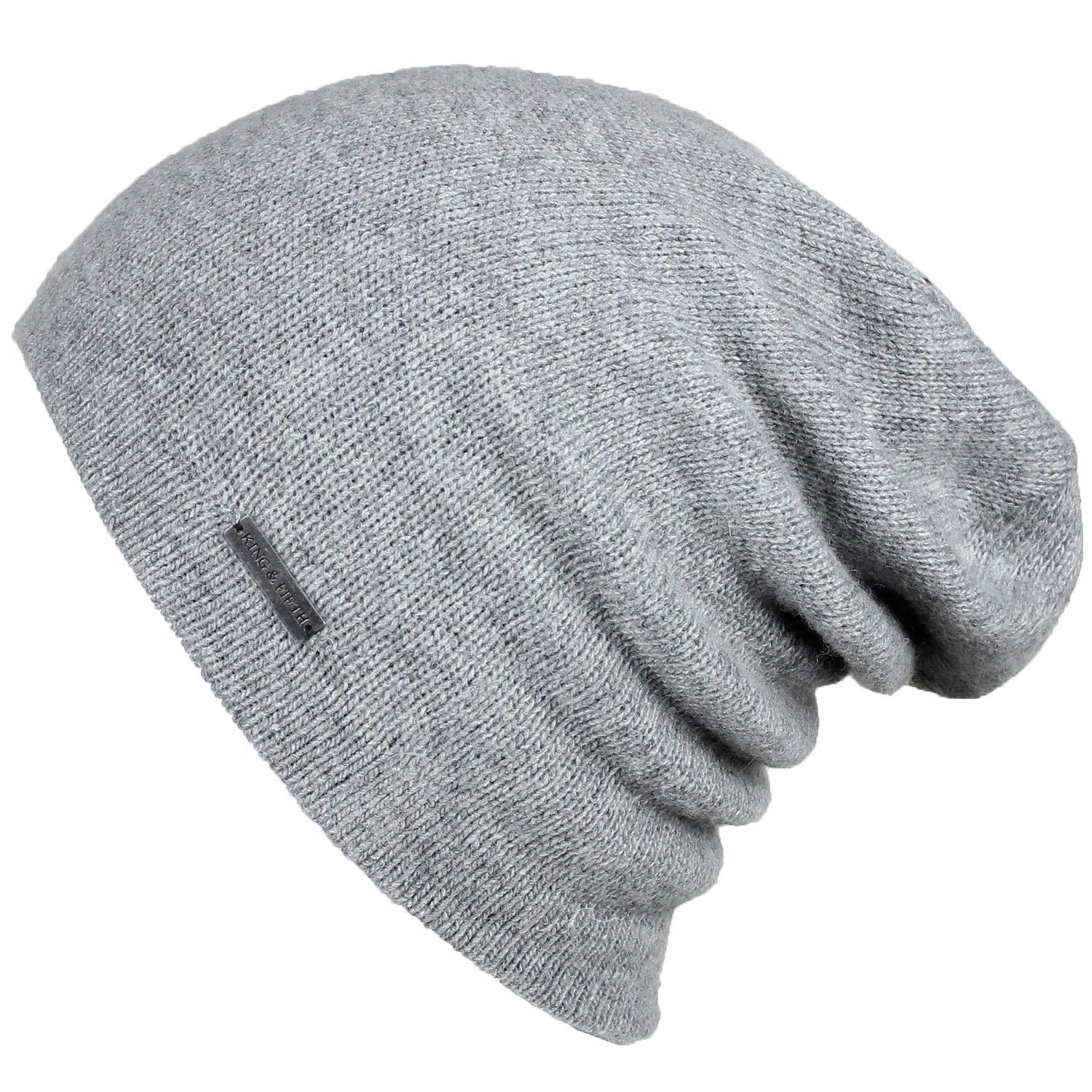 Cashmere Beanie for Women slouchy beanie grey cashmere TUESUQK