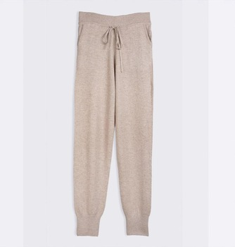 Cashmere Pants for Women ladies casual knitted track pants 100% cashmere pants for women MQITQYV