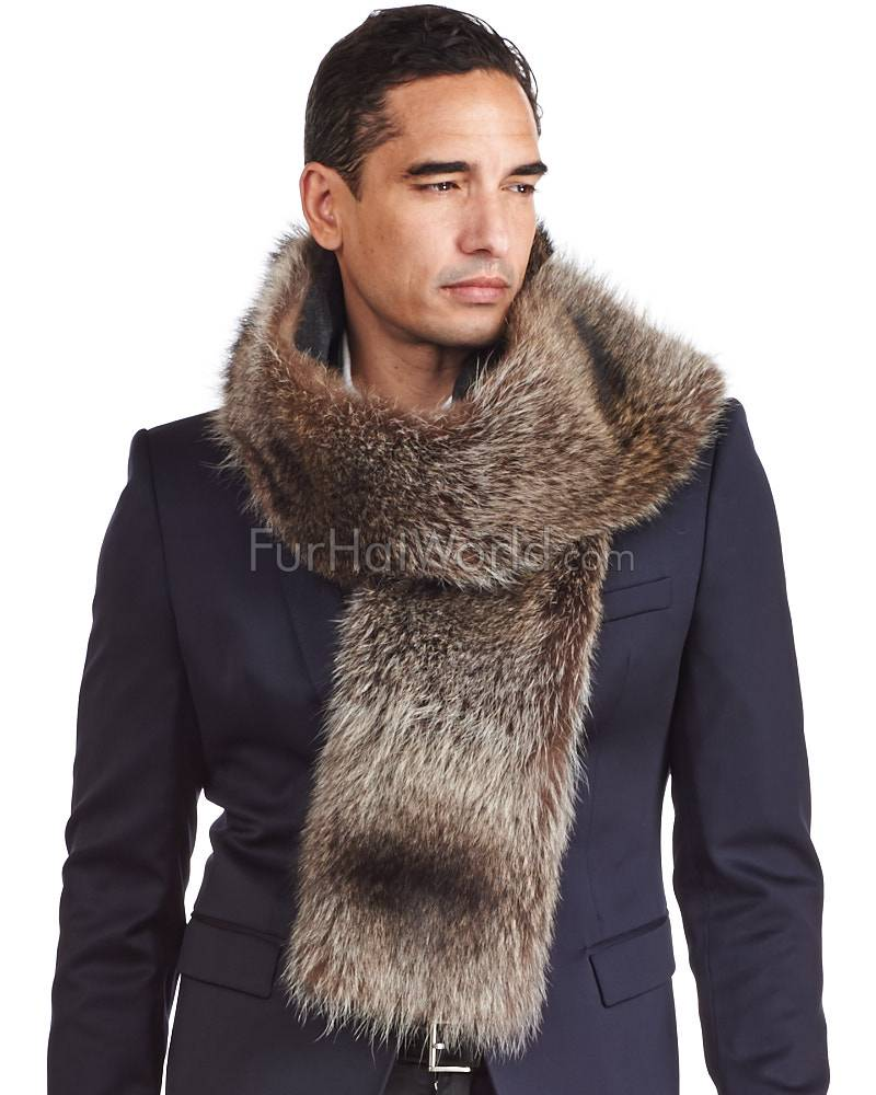 Cashmere scarf for men thomas raccoon fur and cashmere scarf for men BXQXGUP