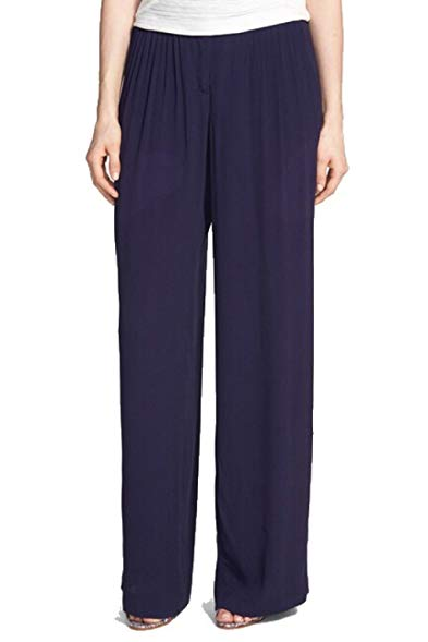 chelsea28 wide leg pleated pants for women in navy blue size 2 RIZBGMG