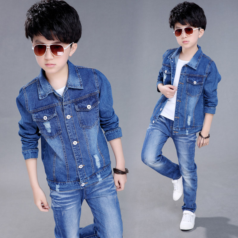 Children's jackets for boys aliexpress.com : buy 2018 autumn boys jeans jacket children clothes kids  denim jackets coats casual UVYKXSB