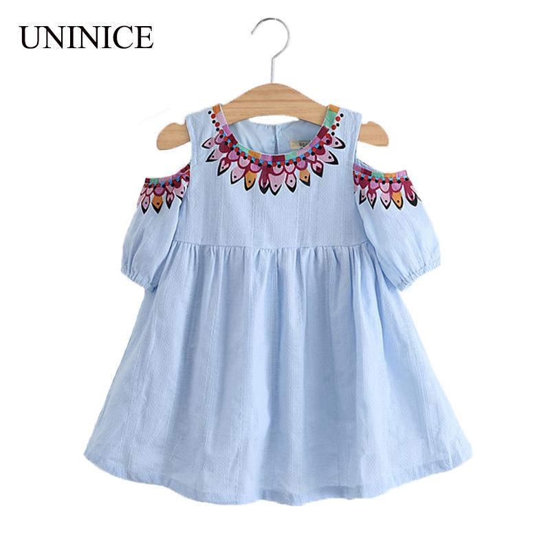 Clothes for girls uninice summer girls dress 2017 design kids clothes for girls fashion  strapless embroidery TGBJQTJ
