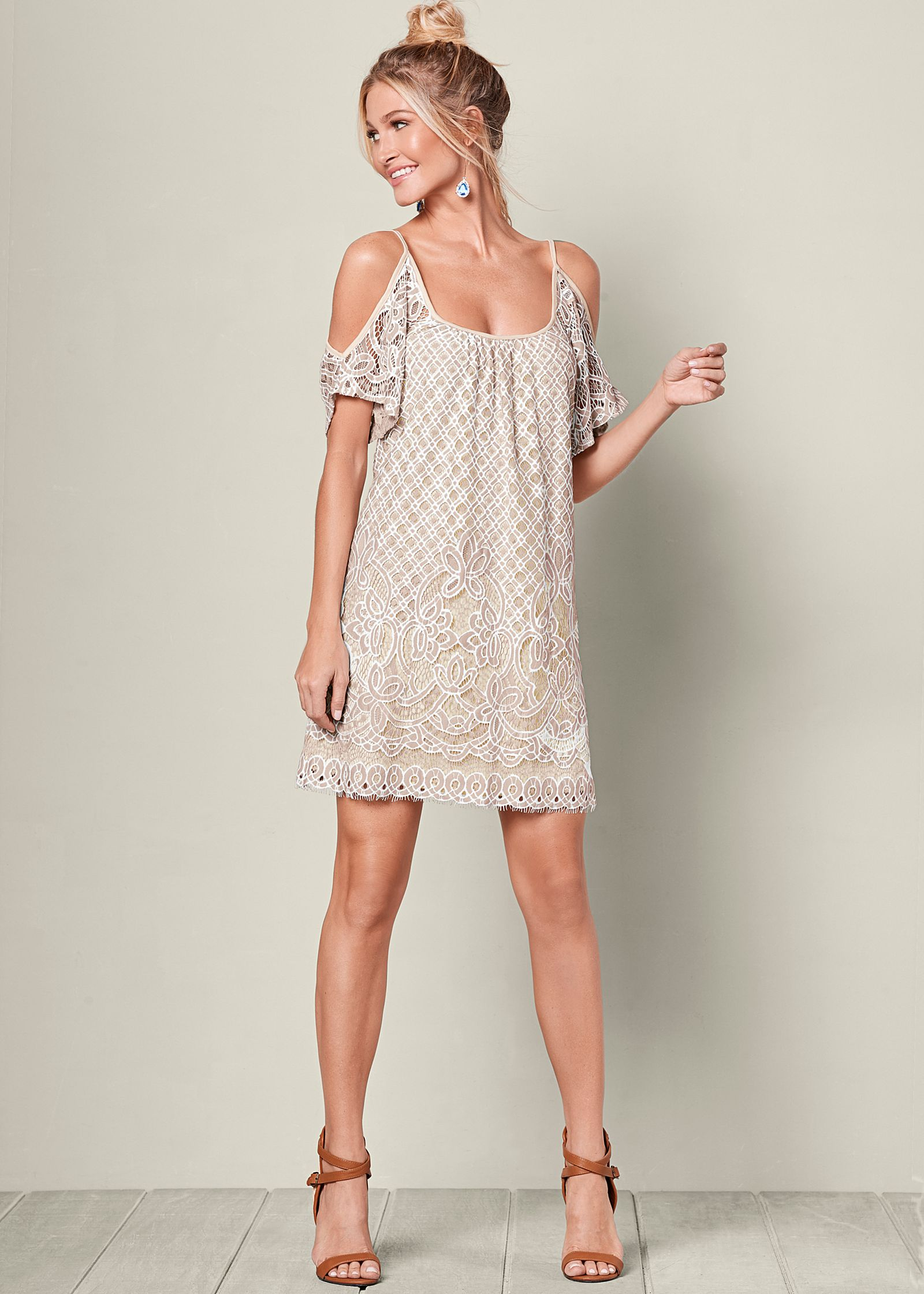 Day Dresses cold shoulder lace dress WIDYSRO