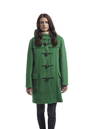 Duffle Coats for Women womens classic duffle coats -- green-8 UNSVZVS