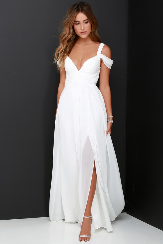 ELEGANT DRESSES ocean of elegance ivory maxi dress PKYYIWT