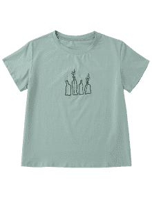 Embroidered t shirts ... plant embroidered t-shirt ... MISTEFP