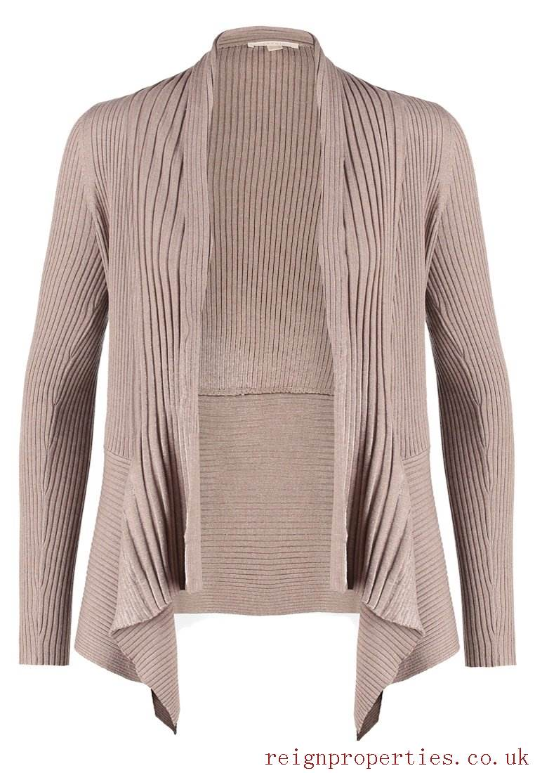 ESPRIT CARDIGANS cardigan for women taupe flow cardigan jumpers cardigans esprit flow DQFDKAN