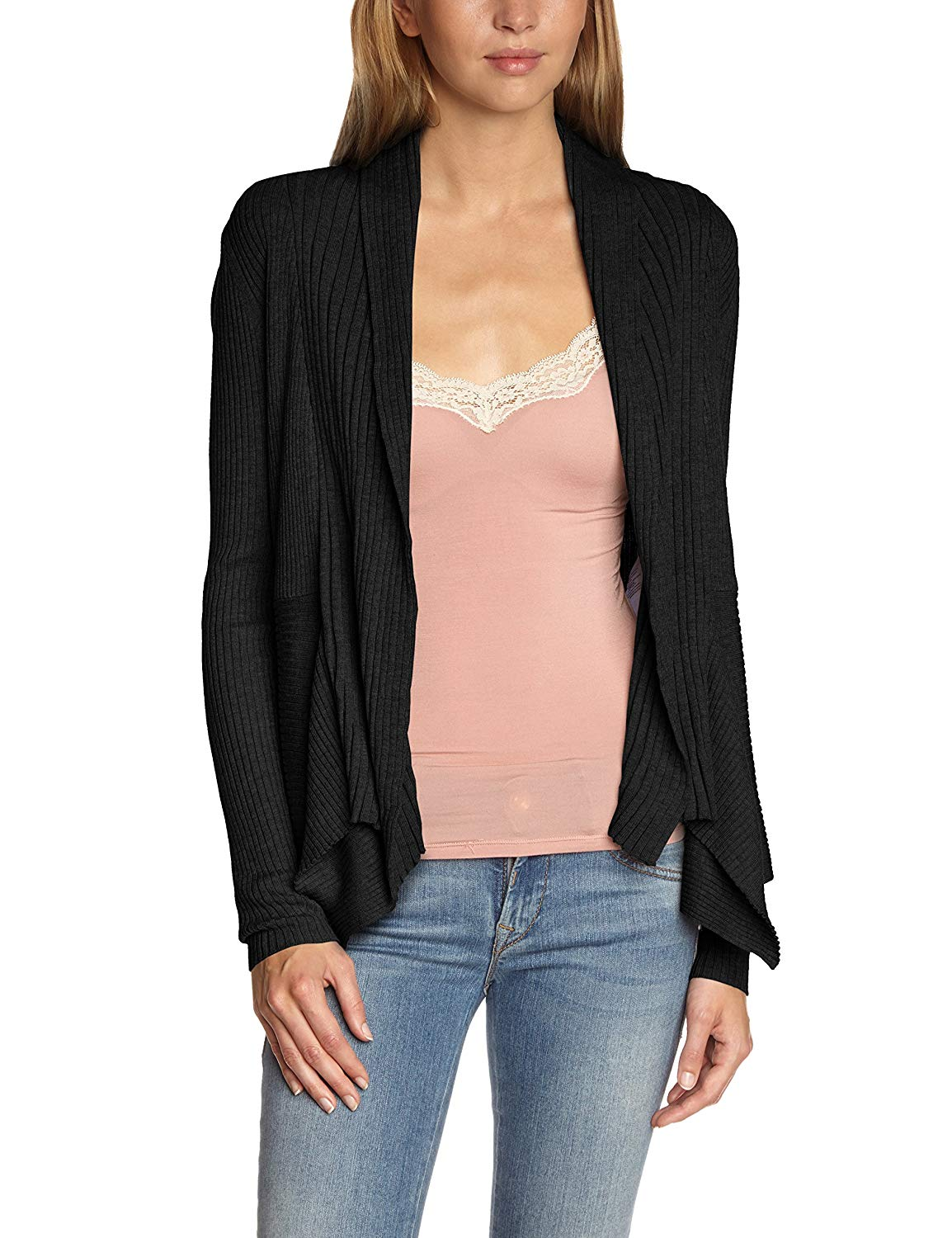ESPRIT CARDIGANS esprit womenu0027s cardigan xsmall black at amazon womenu0027s clothing store: KHRRZBC