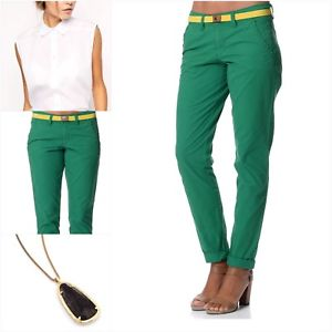 ESPRIT PANTS image is loading esprit-women-039-s-100-cotton-slim-green- AOOSTXF