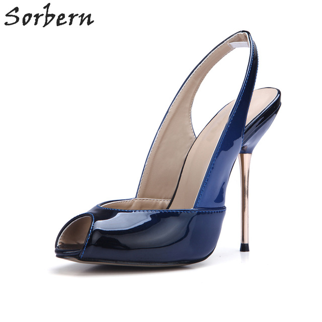 evening shoes sorbern blue and black gradient women dress shoes custom match color evening  shoes GWHTZLV