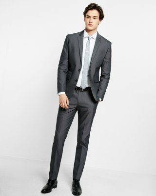 Fitted Suits express view · slim black cotton blend suit pant WZLWXME