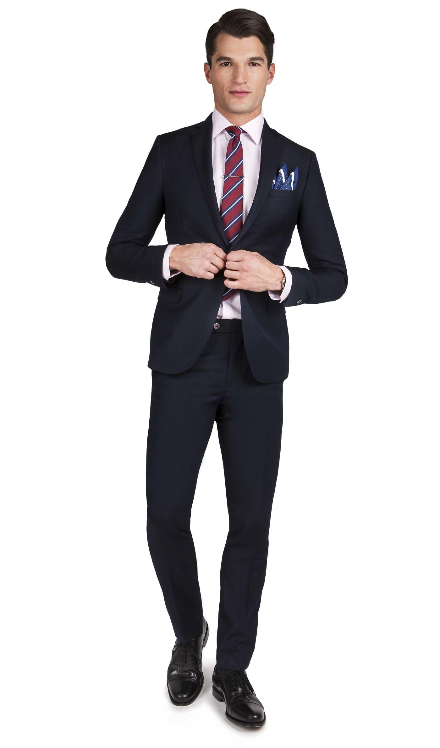 Fitted Suits pine navy textured weave 1-button skinny fit suit DHIWQBM