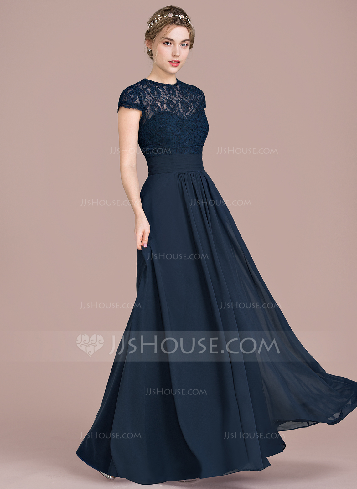 floor length dress a-line/princess sweetheart floor-length chiffon lace bridesmaid dress with  ruffle. loading zoom DIOEHBQ
